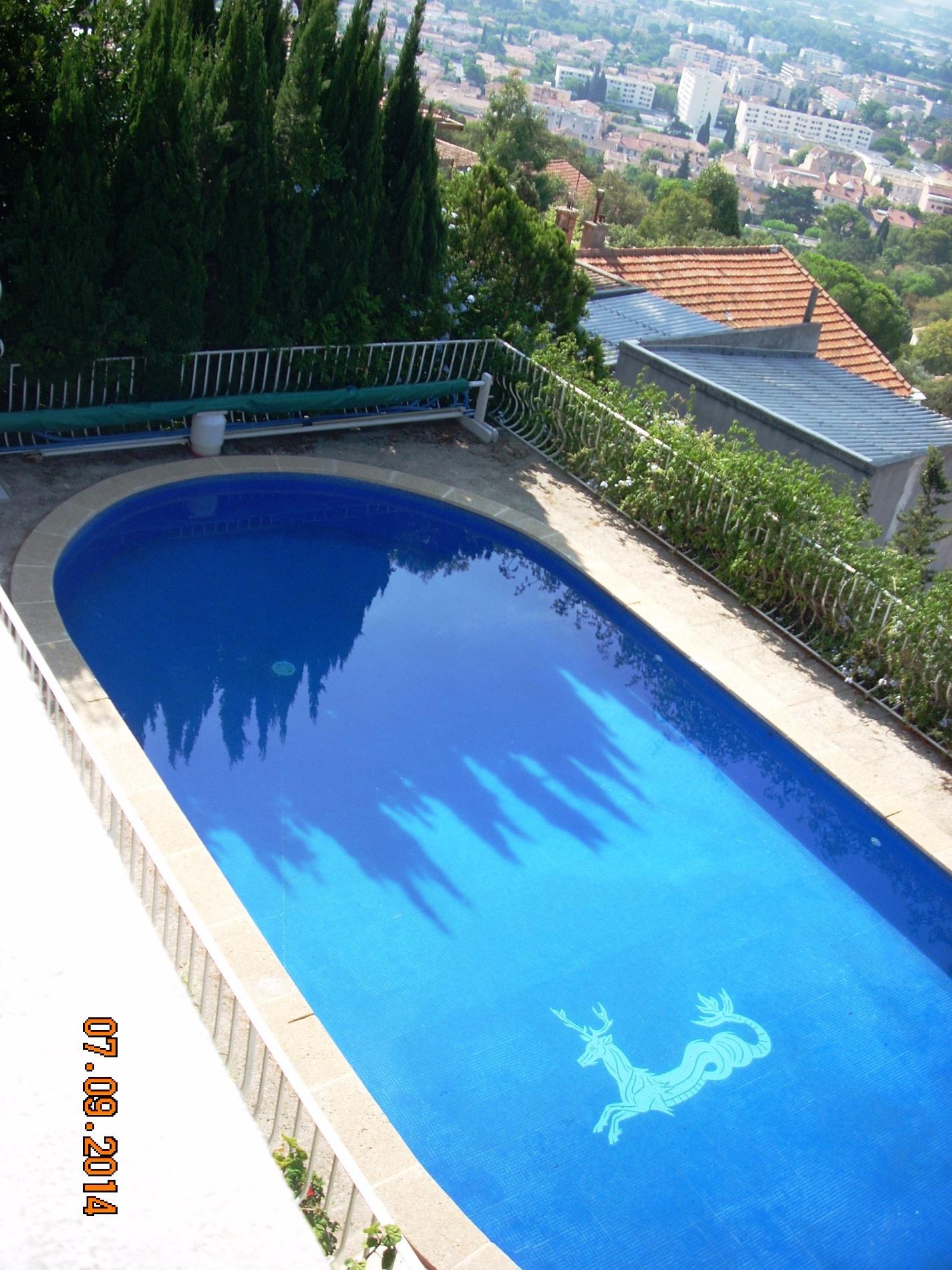 Vente hy res villa 3 chambres piscine vue ville et mer for Piscine hyeres